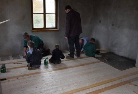 Pfadfinder Bauarbeiten Haus
